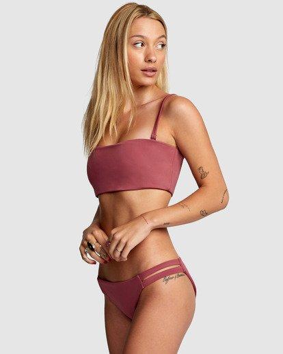 3 Solid Full Bikini Bottom Purple R406861 RVCA