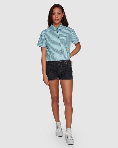 5 Jefferson Short Sleeve Shirt Green R407181 RVCA