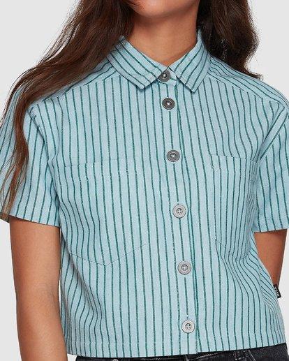 3 Jefferson Short Sleeve Shirt Green R407181 RVCA