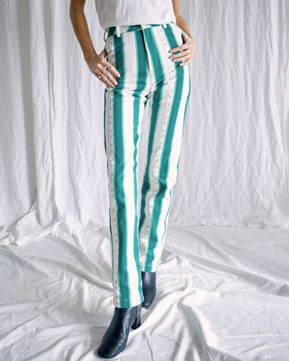 1 Camille Rowe   Camille Pants Blue R415273 RVCA