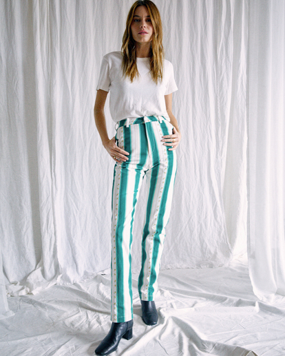 2 Camille Rowe   Camille Pants Blue R415273 RVCA