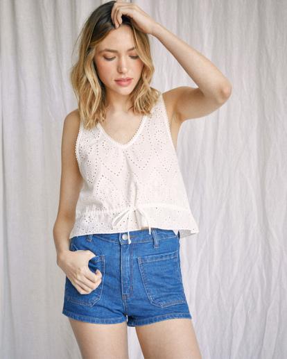 0 Camille Rowe | Rowe Denim Shorts Blue R415313 RVCA