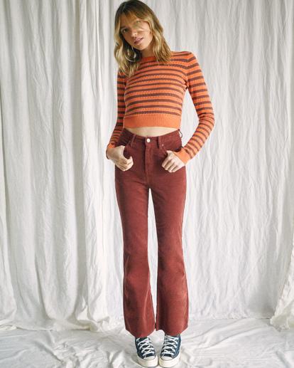 1 Camille Rowe | Paris Pointelle Sweater Orange R415364 RVCA
