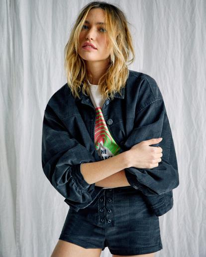 4 Camille Rowe   Bel Shirt Jacket Black R415433 RVCA