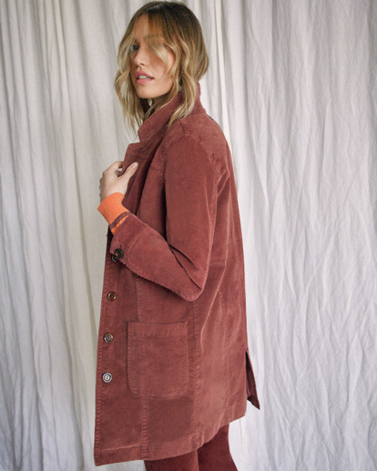 2 Camille Rowe | Paradis Coat Brown R415434 RVCA