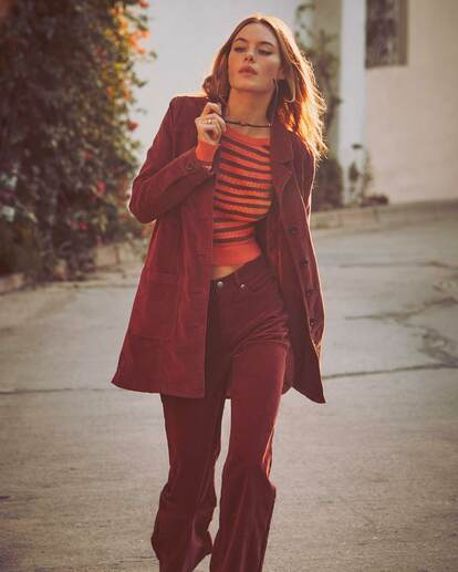 0 Camille Rowe | Paradis Coat Brown R415434 RVCA