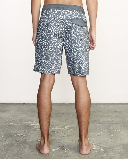 """4 Arroyo Trunk 19"""" - Printed Board Shorts for Men Black S1BSRGRVP0 RVCA"""