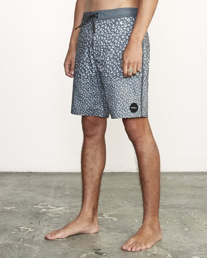 """2 Arroyo Trunk 19"""" - Printed Board Shorts for Men Black S1BSRGRVP0 RVCA"""