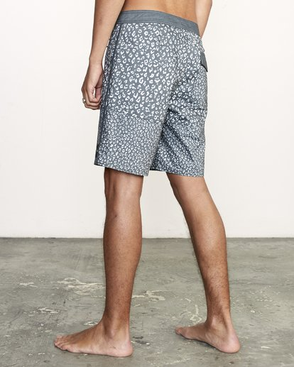 """3 Arroyo Trunk 19"""" - Printed Board Shorts for Men Black S1BSRGRVP0 RVCA"""