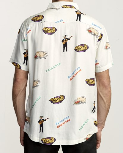 1 Hot Fudge - Camisa estampada de manga corta para Hombre Blanco S1SHRJRVP0 RVCA