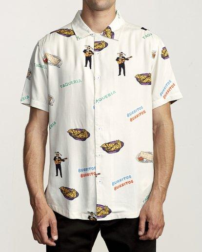 0 Hot Fudge - Camisa estampada de manga corta para Hombre Blanco S1SHRJRVP0 RVCA