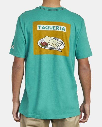 3 Hot Fudge Taqueria - Camiseta con estampado gráfico para Hombre Verde S1SSRFRVP0 RVCA