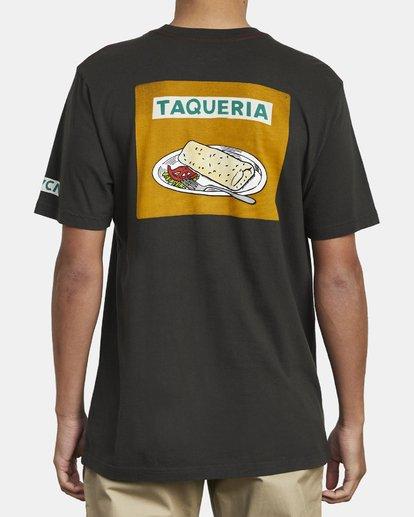 3 Hot Fudge Taqueria - Camiseta con estampado gráfico para Hombre Negro S1SSRFRVP0 RVCA