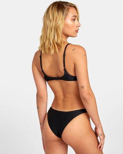 4 Bodega Bralette - Haut de bikini bralette triangle texturé pour Femme Noir S3STRERVP0 RVCA