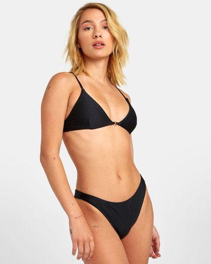 2 Bodega Bralette - Haut de bikini bralette triangle texturé pour Femme Noir S3STRERVP0 RVCA
