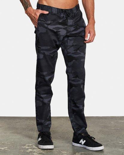 5 Spectrum III - Pantalon élastiqué pour Homme Camo S4PTMDRVP0 RVCA