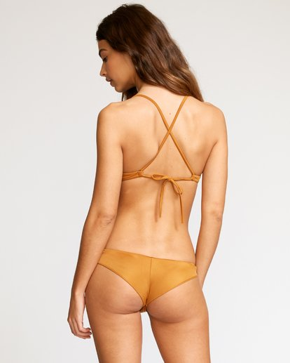 RVCA Womens Beau Grid Cheeky Bikini Bottoms