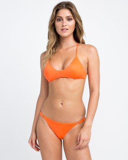 0 Solid Cross Back Bikini Top Brown SJXT01SC RVCA