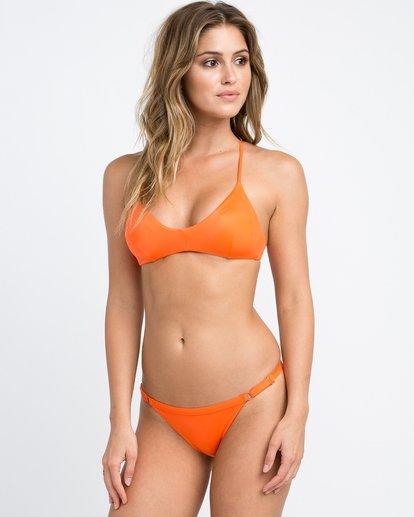3 Solid Cross Back Bikini Top Brown SJXT01SC RVCA