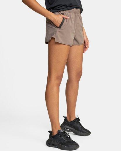 """5 Womens Yogger Stretch Short 11.5"""" Grey T202TRYS RVCA"""