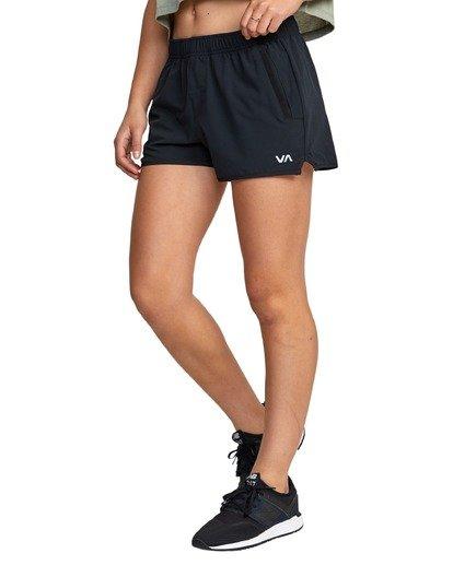 0 Womens Yogger - Short stretch pour Femme Noir U4WKWERVF0 RVCA