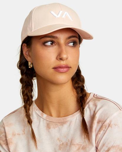 3 VA Baseball Hat Grey UVJHA00105 RVCA