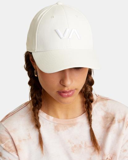 1 VA Baseball Hat White UVJHA00105 RVCA
