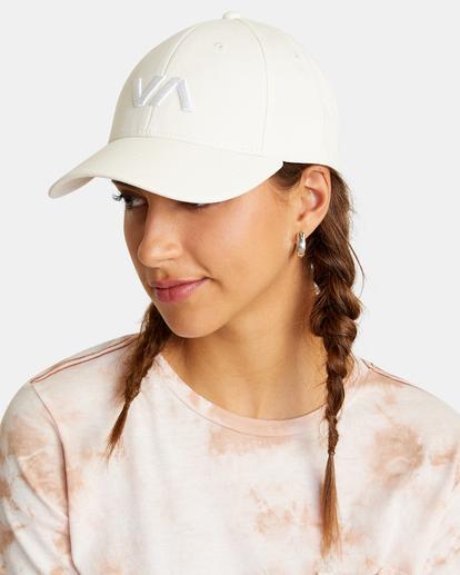 2 VA Baseball Hat White UVJHA00105 RVCA