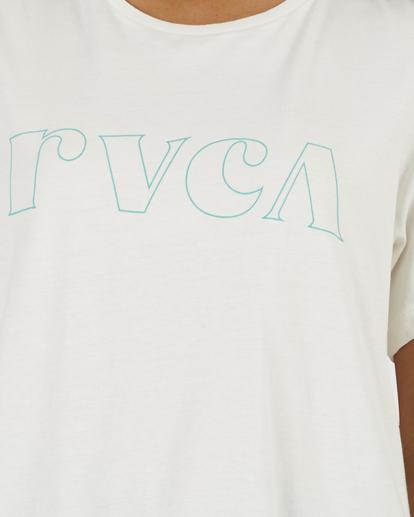 2 RVCA Curl Keyline Graphic Tee White UVJZT00110 RVCA
