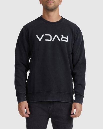 0 Flipped RVCA Crewneck Sweatshirt White UVYFT00143 RVCA