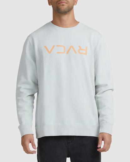 0 Flipped RVCA Crewneck Sweatshirt Green UVYFT00143 RVCA