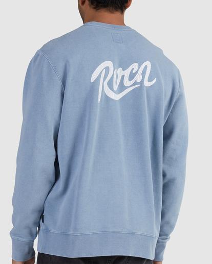 3 RVCA SCRIPTIVE CREW Blue UVYFT00144 RVCA