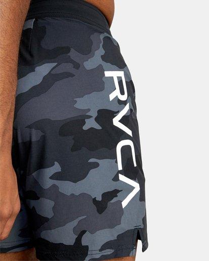 "6 Fight Scrapper Athletic Shorts 17"" Black V2011RFS RVCA"