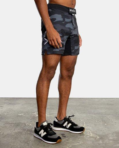 "5 Fight Scrapper Athletic Shorts 17"" Black V2011RFS RVCA"