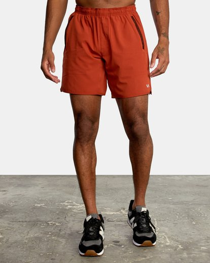 """0 YOGGER STRETCH recycled 17"""" workout SHORT Red V201TRYS RVCA"""