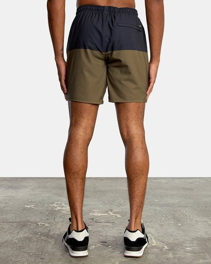 """1 YOGGER STRETCH recycled 17"""" workout SHORT Brown V201TRYS RVCA"""