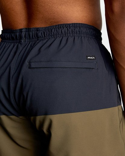 """7 YOGGER STRETCH recycled 17"""" workout SHORT Brown V201TRYS RVCA"""