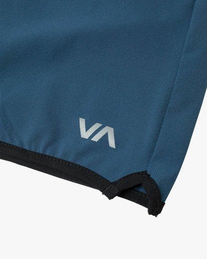 "11 YOGGER STRETCH recycled 17"" workout SHORT Blue V201TRYS RVCA"