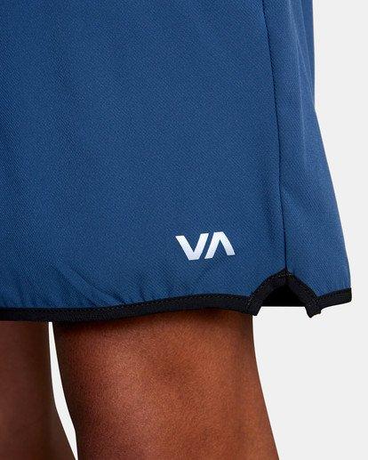 "8 YOGGER STRETCH recycled 17"" workout SHORT Blue V201TRYS RVCA"