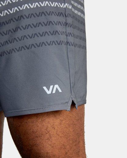 "2 YOGGER STRETCH recycled 17"" workout SHORT Black V201TRYS RVCA"