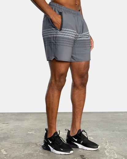 "5 YOGGER STRETCH recycled 17"" workout SHORT Black V201TRYS RVCA"