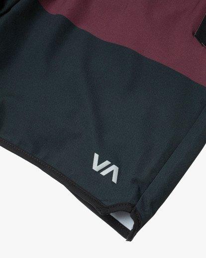 "11 YOGGER STRETCH ATHLETIC SHORTS 17"" Red V201TRYS RVCA"