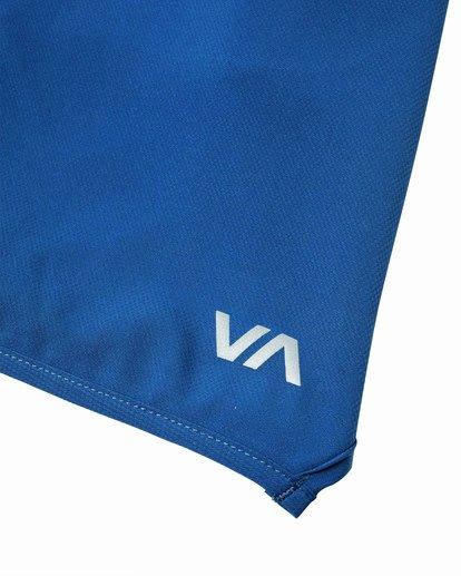 "8 YOGGER STRETCH ATHLETIC SHORTS 17"" Blue V201TRYS RVCA"