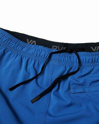 "11 YOGGER STRETCH ATHLETIC SHORTS 17"" Blue V201TRYS RVCA"