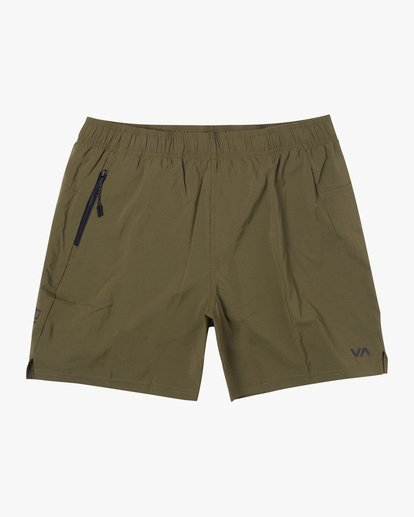 "0 Tech Strike Train Gym Shorts 16"" Green V2023RTS RVCA"