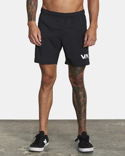 "1 Tech Strike Train Gym Shorts 16"" Black V2023RTS RVCA"
