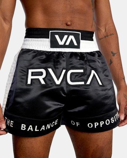 "2 RVCA Muay Thai Gym Shorts 15"" Black V2031RMT RVCA"