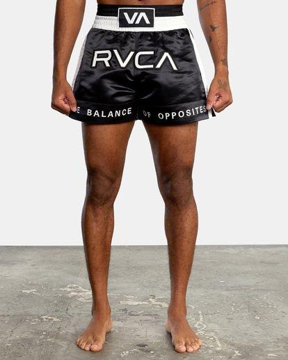 "0 RVCA Muay Thai Gym Shorts 15"" Black V2031RMT RVCA"