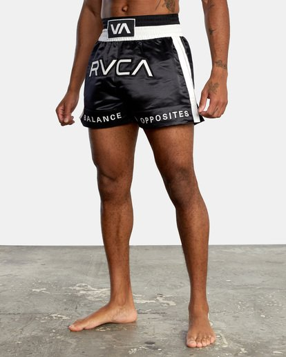 "3 RVCA Muay Thai Gym Shorts 15"" Black V2031RMT RVCA"