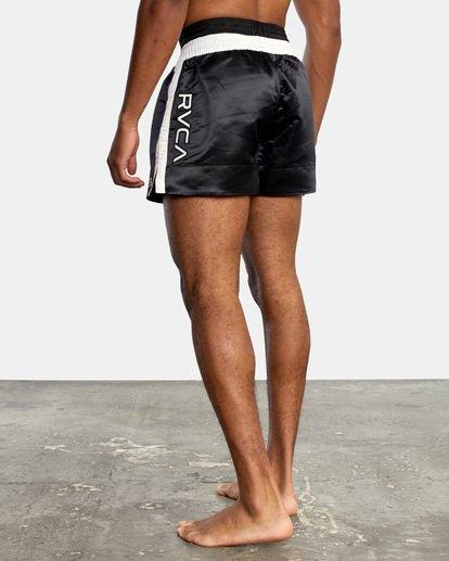 "4 RVCA Muay Thai Gym Shorts 15"" Black V2031RMT RVCA"